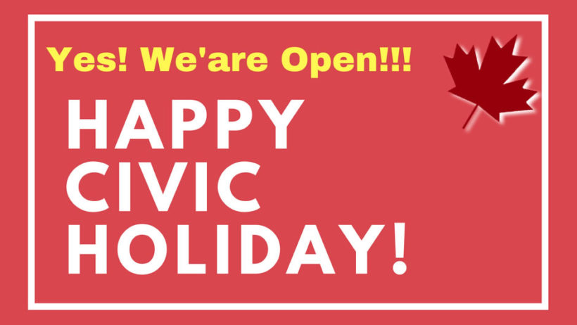 Civic Holiday Open Hours