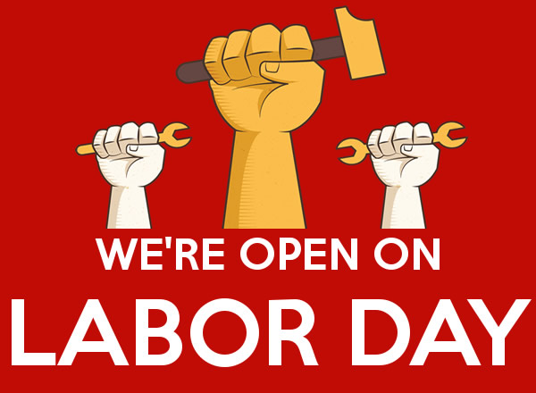 We are open for Labour Day Weekend!
